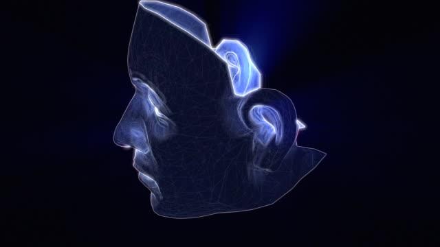 Futuristic Human Face Animation