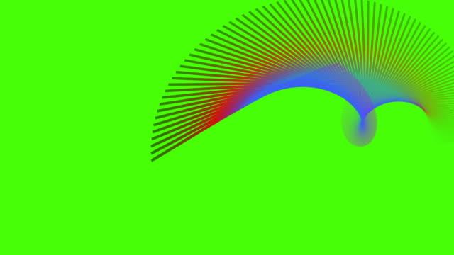 Futuristische Welle abstrakt Partikel-Hintergrund