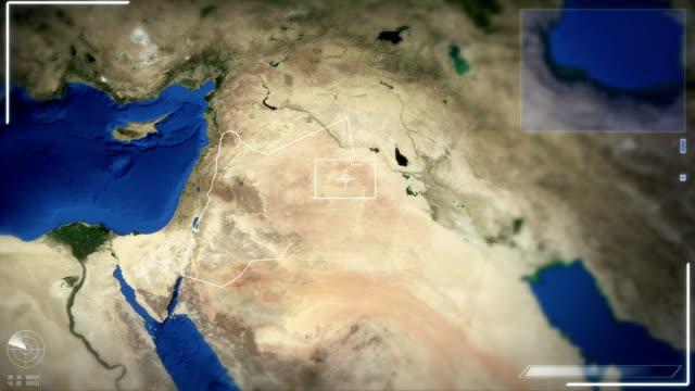 Futuristic Satellite Image View Of Amman