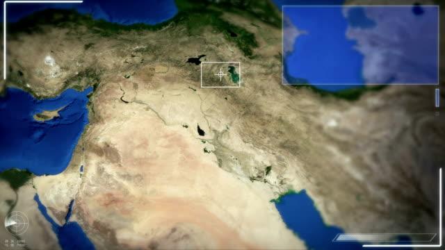 Futuristic Satellite Image View Of Bagdad