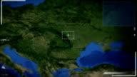 Futuristische Satelliten-Ansicht von Belgrad