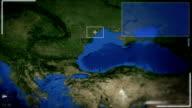 Futuristic Satellite Image View Of Bucharest