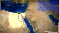 Futuristico di immagini satellitari vista del Cairo