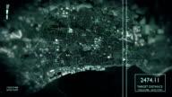Futuristische Satelliten Bild Blick auf die Stadt