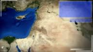 Futuristische Satelliten-Ansicht von Jerusalem