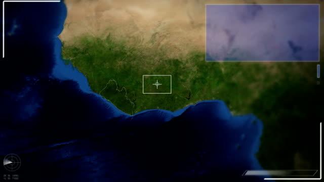Futuristic Satellite Image View Of Monrovia