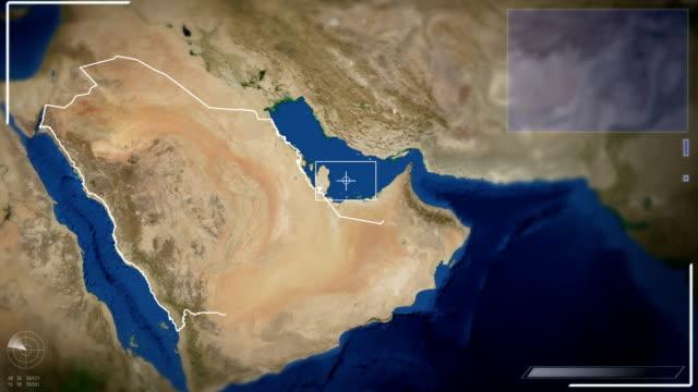 Futuristische Satelliten Bild Aussicht auf Riyadh