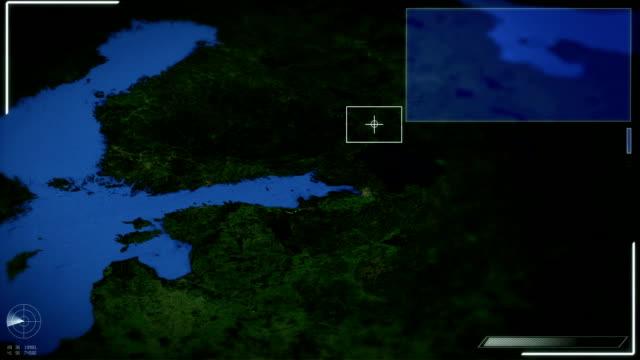 Futuristic Satellite Image View Of Tallinn