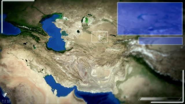 Futuristic Satellite Image View Of Tehran