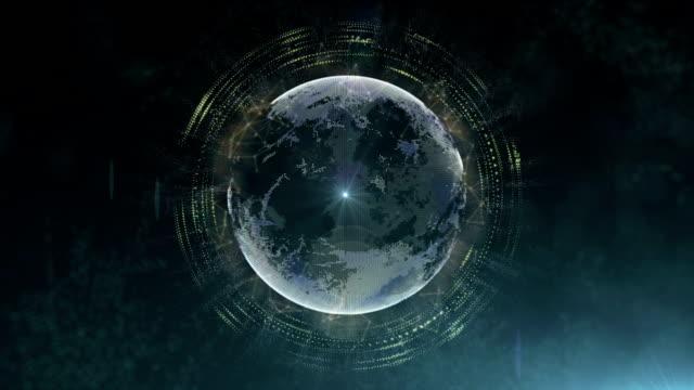 Futuristic sci fi planet system