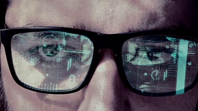 Futuristische slimme bril cyaan