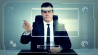 Futuristischen Touchscreen Bildschirm