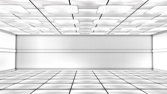 Futuristic White Room (3D)