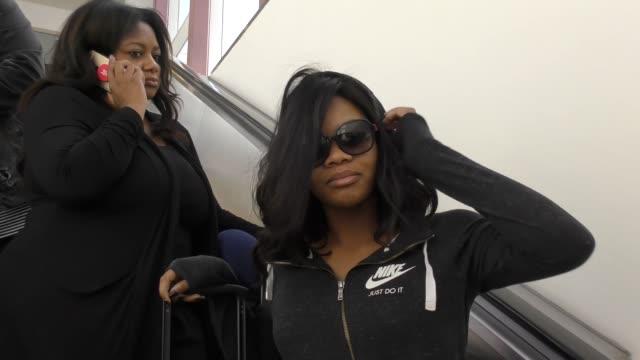 Gabby Douglas arriving at LAX Airport in Los Angeles in Celebrity Sightings in Los Angeles