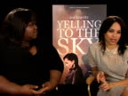 Gabourey Sidibe Zoe Kravitz on working with Victoria Mahoney at the Yelling to the Sky Interviews 61st Berlin International Film Festival at Berlin
