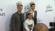 Gabriel Basso Moises Arias Nick Robinson at The Kings Of Summer Los Angeles Premiere on 5/28/2013 in Hollywood CA