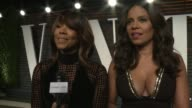 INTERVIEW Gabrielle Union and Sanaa Lathan at the 2016 Vanity Fair Oscar Party Hosted By Graydon Carter at Wallis Annenberg Center for the Performing...