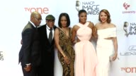 Gabrielle Union Carmen Ejogo Spike Lee Courtney B Vance and Angela Bassett at the 46th Annual NAACP Image Awards Arrivals at Pasadena Civic...