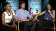 INTERVIEW Gail Bean Anders Holm Cobie Smulders on being a mom your identity being a father on their characters at the 'Unexpected' Los Angeles Press...