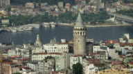 Galata Tower With Istanbul Bridges