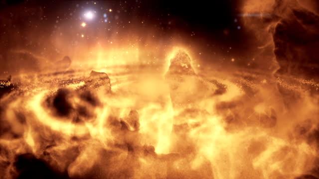 Galaxy animierte sci-fi oder wissenschaftlichen Hintergrund video.