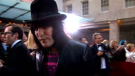 Galaxy British Book Awards 2009 Noel Fielding interview SOT on wearing a bowtie for the event his competiton whether there'll be more books working...