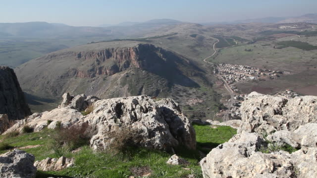 Galilee, view of the cliffs and mountains of the Galille, northern of Israel