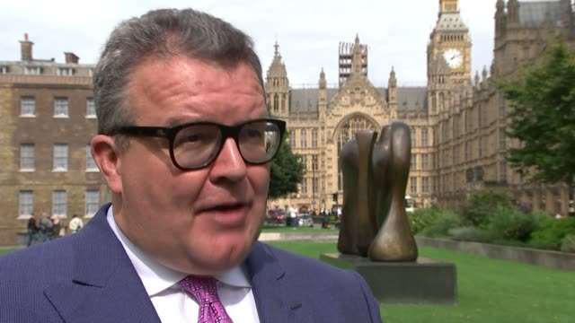 Labour Party would ban betting companies from football sponsorship deals ENGLAND London EXT Tom Watson MP interview SOT