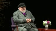 WGN Game of Thrones Author George R R Martin Talks About Showing Catching Up to Books at Northwestern University in Evanston Illinois on November 4...