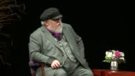 WGN Game of Thrones Author George R R Martin Talks About the Show Influencing the Books at Northwestern University in Evanston Illinois on November 4...