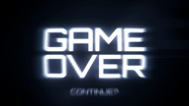 Game Over - Retro Video Game Menu