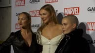 CHYRON Garage Magazine and Marvel Turn Supermodels Into Super Heroes on February 11 2016 in New York City