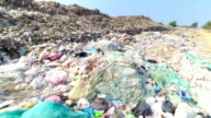 Garbage at a rubbish dump in a landfill site, pollution, Global warming