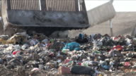 Garbage waste dumped in the rubbish landfill site