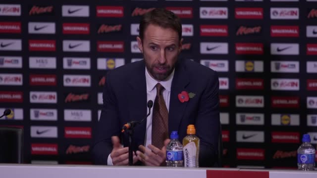 Gareth Southgate discusses the upcoming matches chosen players for the squad and the under 17 team