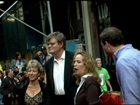 Garrison Keillor and wife Jenny Lind Nilsson at the 'A Prairie Home Companion' New York Premiere at the DGA Theater in New York New York on June 4...