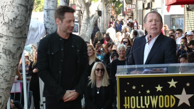 SPEECH Garry Shandling at David Duchovny Honored With Star On The Hollywood Walk Of Fame at Hollywood Walk Of Fame on January 25 2016 in Hollywood...