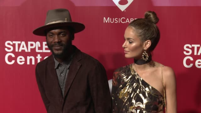 Gary Clark Jr and Nicole Trunfio at the 2016 MusiCares Person of The Year Honoring Lionel Richie at Los Angeles Convention Center on February 13 2016...