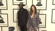Gary Clark Jr and Nicole Trunfio at the 58th Annual GRAMMY Awards® Arrivals at Staples Center on February 15 2016 in Los Angeles California