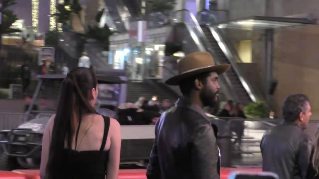 Gary Clark Jr Nicole Trunfio at Justice League Premiere in Hollywood in Celebrity Sightings in Los Angeles