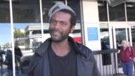 INTERVIEW Gary Clark Jr Nicole Trunfio talk about Australian culture while departing at LAX Airport in Los Angeles in Celebrity Sightings in Los...