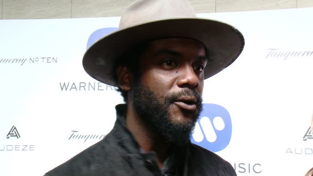 INTERVIEW Gary Clarke Jr On performing at the Grammys at Warner Music Group Grammy After Party 2016 in Los Angeles CA