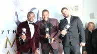 F Gary Gray Anthony Anderson O'Shea Jackson Jr at 47th NAACP Image Awards in Los Angeles CA