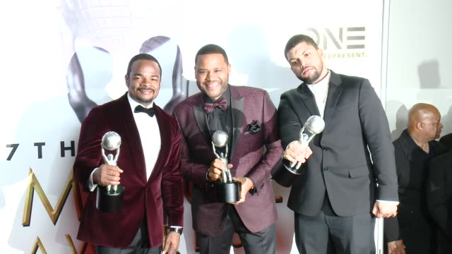F Gary Gray Anthony Anderson O'Shea Jackson Jr at 47th NAACP Image Awards in Los Angeles CA