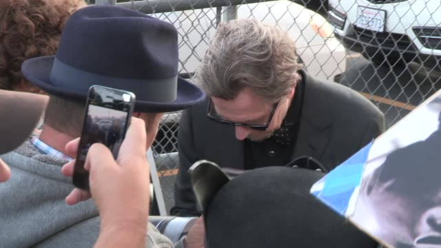 Gary Oldman after recent apology greets fans at the Jimmy Kimmel Studio in Hollywood in Celebrity Sightings in Los Angeles
