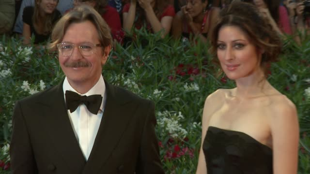 Gary Oldman Alexandra Edenborough at the Tinker Tailor Soldier Spy Premiere Venice Film Festival 2011 at Venice