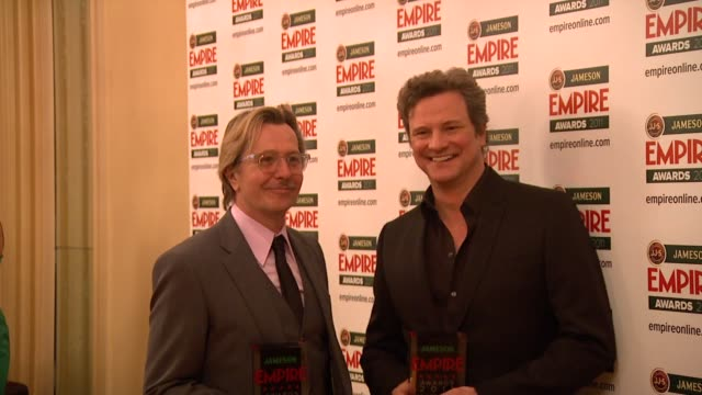 Gary Oldman and Colin Firth at the Jameson Empire Awards at London England