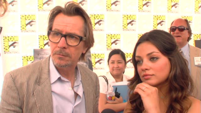 Gary Oldman and Mila Kunis on their characters in the movie at the ComicCon 2009 'The Book of Eli' Press Line at San Diego CA
