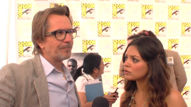 Gary Oldman and Mila Kunis on what they saw at the Comic Con floor at the ComicCon 2009 'The Book of Eli' Press Line at San Diego CA