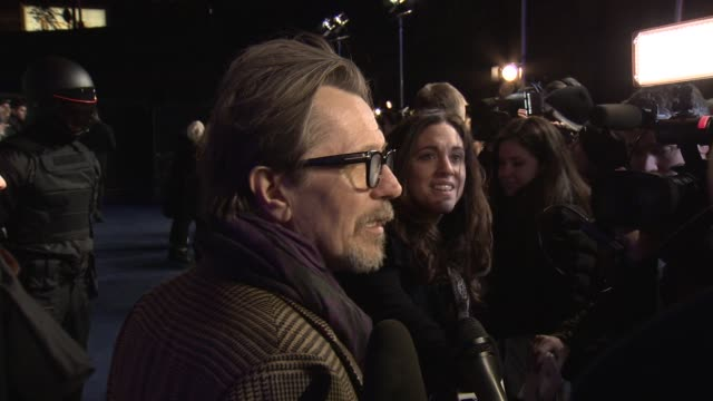 Gary Oldman at 'RoboCop' UK film premiere at BFI IMAX on February 5 2014 in London England